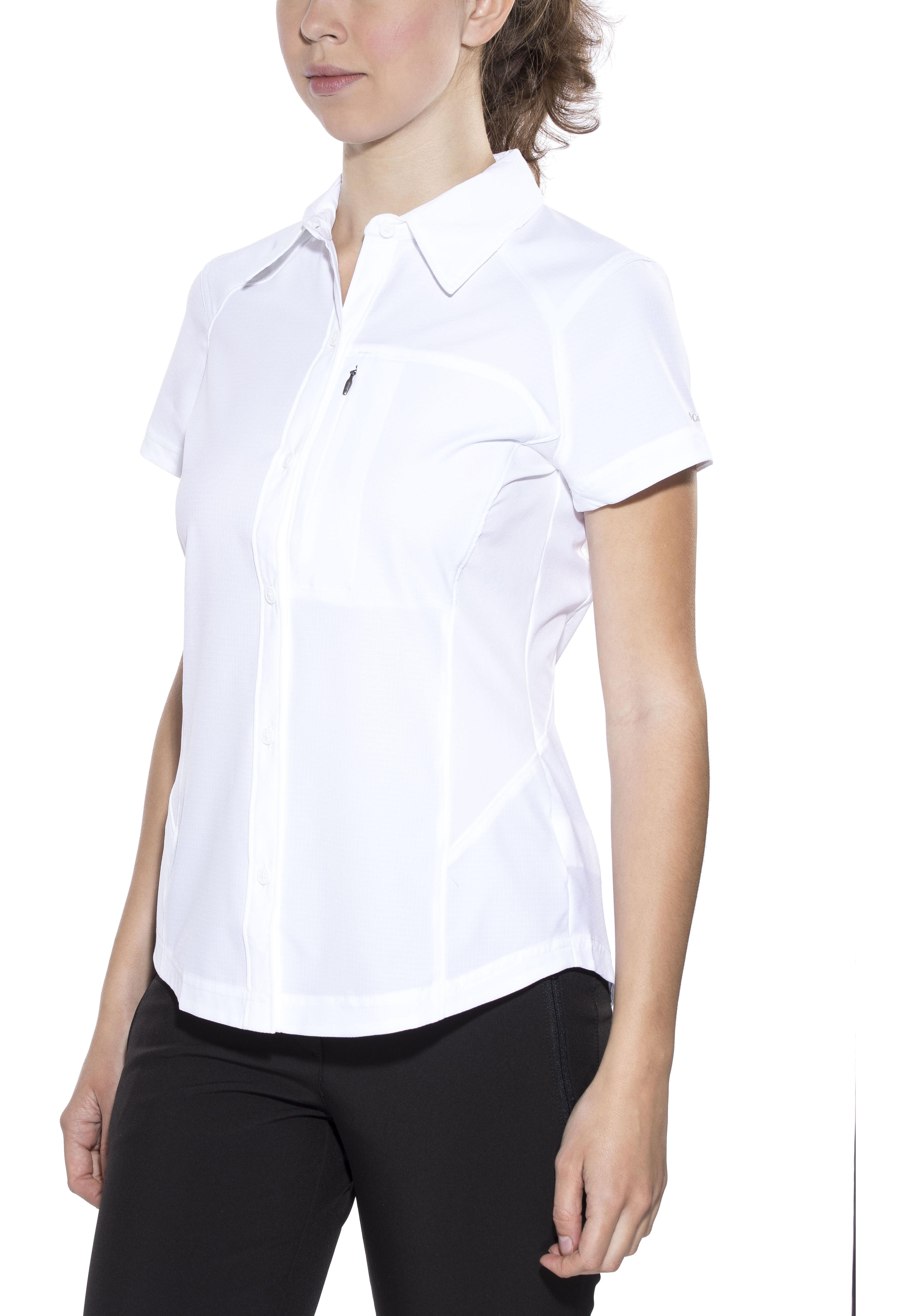 98f22b9ebd524 Columbia Silver Ridge - Camiseta manga corta Mujer - blanco